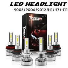 1 <b>Pair</b> TXVSO8 9005 9006 9012 <b>H1</b> H11 H7 COB LED Car ...