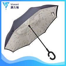 China <b>2019 Fashion Two Sided</b> Reverse Inverted Rain Umbrella ...