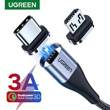 <b>Ugreen Magnetic</b> Micro USB Cable 3A Fast <b>Charging</b> Data Cable for ...