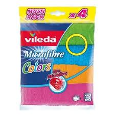 <b>Салфетка</b> универсальная <b>VILEDA Колорс</b> микрофибра, 4 шт/уп ...