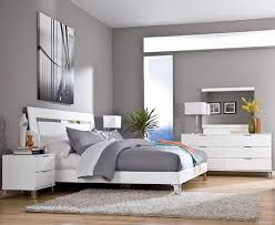 grey wall color scheme and white bedding sets in modern bedroom design ideas for game room bedroom white bed set