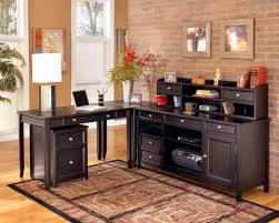 beautiful rug in simple home office decormixed with gorgeous cabinet and modern table lamp antique mahogany large home office unit