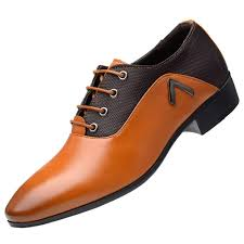 <b>Men</b> missfiona <b>Mens</b> Plain <b>Pointed Toe</b> PU Leather Dress Derby ...