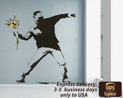 <b>Banksy wall decal</b>   Etsy