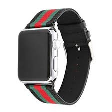 For Apple <b>Watch Band</b> 42mm <b>Nylon</b> and Genuine <b>Leather Sports</b>