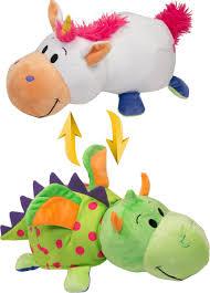 <b>1TOY</b> Мягкая игрушка <b>Вывернушка</b> 2в1 Единорог-Дракон <b>40 см</b>