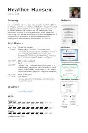 childcare resume samples   visualcv resume samples databasechildcare worker resume samples