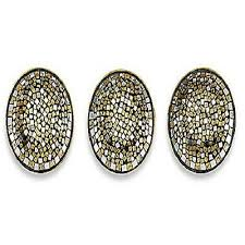 mosaic wall decor: mosaic bronze plate set wall decor set of  metal glass sophisticated design