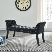 Velci <b>Bench</b> - <b>Black Velvet Fabric</b> » Ontario Mattress