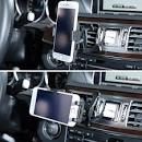 Car Air Vent Mount Sinsun Universal Smartphone Car Mount Holder Cradle Quick Release Button iPhone 6 6S 5S 5 iPod Touch Devices 3 Inches Wide Black