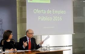 Resultado de imagen de oferta empleo publico 2016