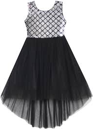 Sunny <b>Fashion</b> Girls Dress <b>Sequin Mesh</b> Party Wedding Princess ...