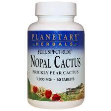 <b>Nopal Cactus</b> 1000 Mg <b>Full Spectrum</b>, Planetary Herbals