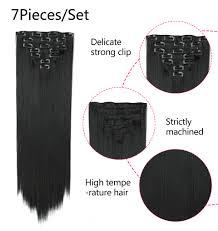 <b>Valen Wigs</b> Ombre <b>Wig</b> Two Tones 7Piece/set <b>Clip in</b> On Hair ...
