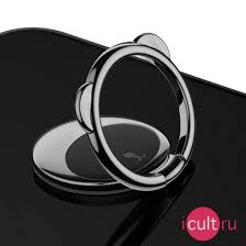 <b>Кольцо</b>-<b>держатель Baseus Bear Finger</b> Ring Holder Black для ...