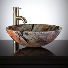 jupiter glass vessel sink bathroom the adds an extra dimension to your counter shades of orange avant garde faucet