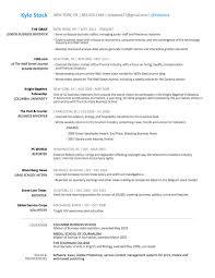 resume kyle stock biz designed