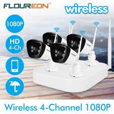 <b>Floureon 4CH Wireless CCTV</b> 1080P DVR Kit 4pcs Outdoor Wifi ...