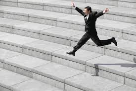 how to live a passionate work life style la salle university businessman leaping on steps