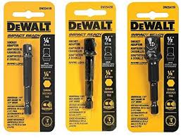 DeWalt <b>3</b>-<b>pc Socket Adapter</b> Set includes DW2541IR, DW2542IR ...