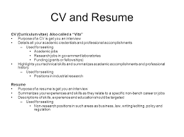 cv resume strategies and tips julie vick  career services    cv and resume cv  curriculum vitae  also called a vita purpose of a cv