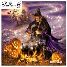 <b>FULLCANG</b> Full Square <b>Diamond Painting</b> Cross Stitch Halloween ...
