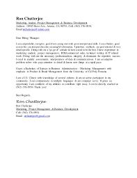 ron chatterjee cover letter ron chatterjee cover letter   ron chatterjee marketing analyst  project management  amp  business development address   horst ave