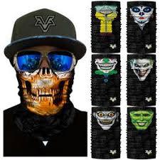 The Joker Skull Half Face Mask Bicycle Bike Motorcycle Ski ... - Vova