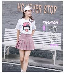 2019 <b>New Spring</b> Plus Size <b>S 3XL Women</b> High Waist Pleated Skirt ...