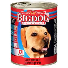 """<b>Консервы</b> для собак <b>ЗООГУРМАН</b> """"<b>BIG DOG</b>"""" (Мясное Ассорти ..."""