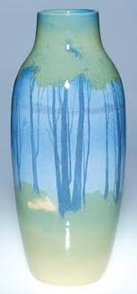 "1207: Rookwood <b>Iris</b> Glaze <b>scenic</b>, 14 3/4"", Lawrence in 2019 