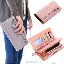 Elegant Women's Wallet PU Leather <b>Long Zipper</b> Money Card ...