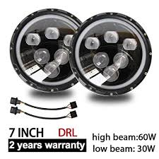 <b>CO LIGHT</b> Pair LED Headlights for Jeep Wrangler <b>7</b>'' <b>inch</b> round ...