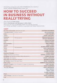 cast list how to succeed in business out trying pass programme how to succeed