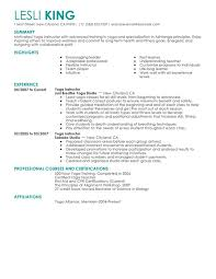 unforgettable yoga instructor resume examples to stand out    yoga instructor resume sample