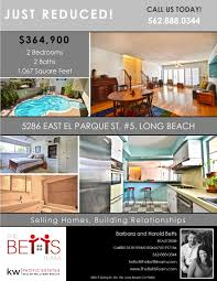 long beach realtors the betts team just listed flyer
