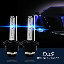 <b>D2S</b>/<b>D2R 8000K Blue</b> White Xenon HID Replacement Headlight ...