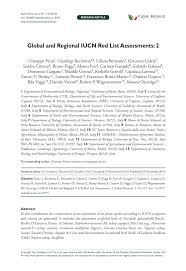 (PDF) Global and Regional IUCN Red List Assessments: 2
