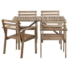patio table and 6 chairs: full size of  winsome askholmen outdoor dining furniture set four dining chairs with armrest best longevity and durability stylish rectangle table design natural expression of the wood