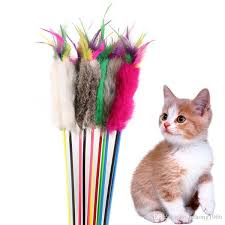 Cat Pole <b>Toy</b> Funny Wood Plush Plaything <b>Practical Feather</b> Catcher ...