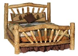 rustic log bed 1 build your own rustic furniture