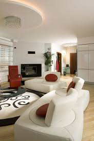 living rooms with white sofas