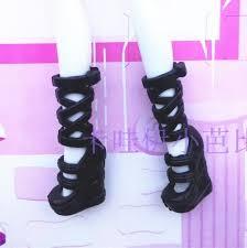 Wholsale <b>10 pairs</b>/<b>lot</b> black boots for Monster inc dolls, doll's ...