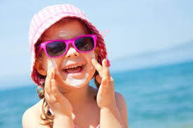 Image result for kids covered in sunscreen