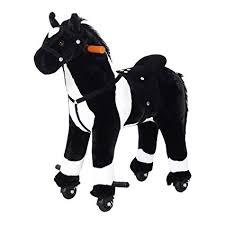 Qaba Kids Plush Ride On Toy Walking Horse with ... - Amazon.com