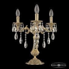 <b>Настольная лампа</b> бронзовая 7202L/3/125 B FP Bohemia Ivele ...