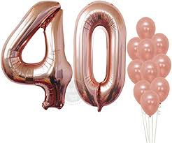 Rose Gold 40th Birthday Balloons – Large, Pack of 12 ... - Amazon.com