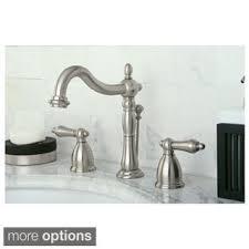satin nickel bathroom faucets: vintage satin nickel widespread bathroom faucet