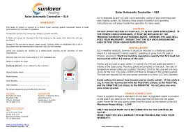 Sunlover <b>SL9</b> Instruction Manual - 2016