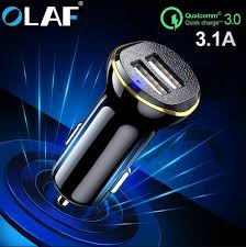 <b>Olaf 5V 2.4A</b> Dual <b>USB</b> Car Charger For Phone Mobile Phone ...